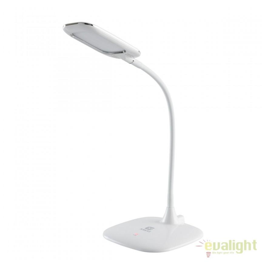 Veioza / Lampa de birou cu touch Cyber-light white 631035401 MW, CORPURI DE ILUMINAT INTERIOR MODERN, Corpuri de iluminat, lustre, aplice, veioze, lampadare, plafoniere. Mobilier si decoratiuni, oglinzi, scaune, fotolii. Oferte speciale iluminat interior si exterior. Livram in toata tara.  a