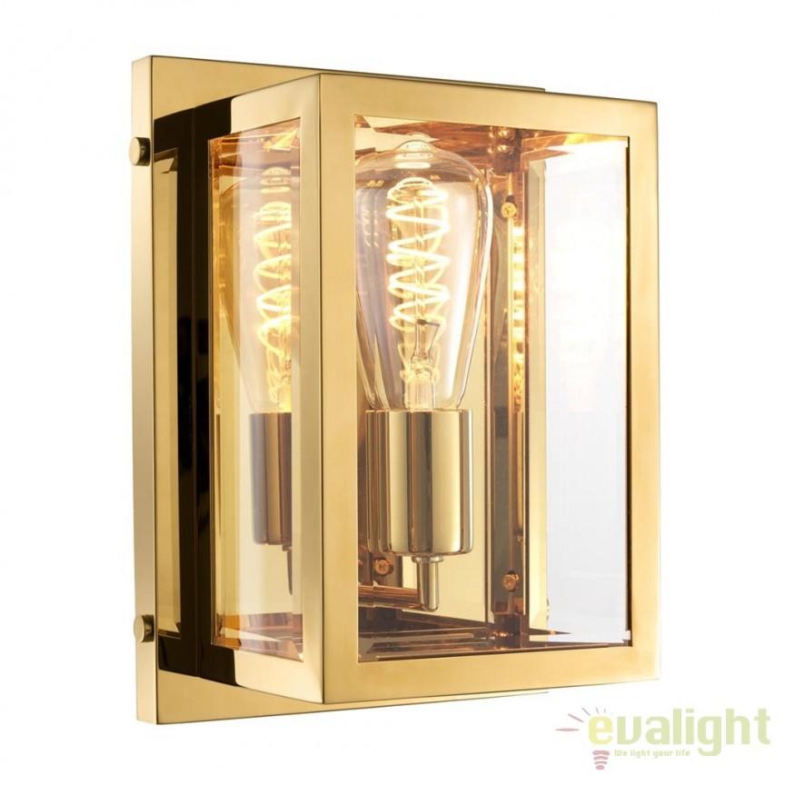 Aplica design LUX Odeon, auriu 112263 HZ, Aplice de perete clasice, Corpuri de iluminat, lustre, aplice, veioze, lampadare, plafoniere. Mobilier si decoratiuni, oglinzi, scaune, fotolii. Oferte speciale iluminat interior si exterior. Livram in toata tara.  a