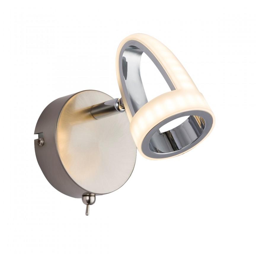 Aplica LED moderna design minimalist RODRIK 56006-1 GL, Spoturi - iluminat - cu 1 spot, Corpuri de iluminat, lustre, aplice, veioze, lampadare, plafoniere. Mobilier si decoratiuni, oglinzi, scaune, fotolii. Oferte speciale iluminat interior si exterior. Livram in toata tara.  a