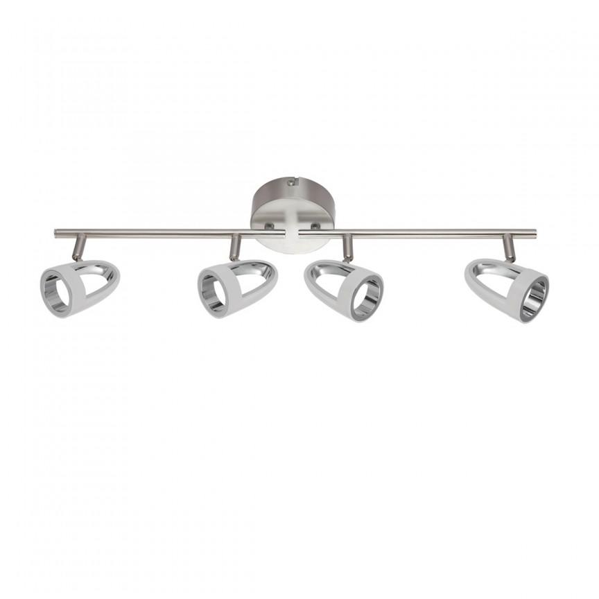 Plafoniera LED moderna cu 4 spoturi directionabile RODRIK 4L 56006-4 GL, Spoturi - iluminat - cu 4 spoturi, Corpuri de iluminat, lustre, aplice, veioze, lampadare, plafoniere. Mobilier si decoratiuni, oglinzi, scaune, fotolii. Oferte speciale iluminat interior si exterior. Livram in toata tara.  a
