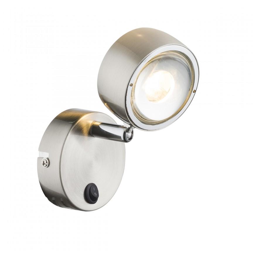 Aplica LED moderna design minimalist Barra 56290-1 GL, Spoturi - iluminat - cu 1 spot, Corpuri de iluminat, lustre, aplice, veioze, lampadare, plafoniere. Mobilier si decoratiuni, oglinzi, scaune, fotolii. Oferte speciale iluminat interior si exterior. Livram in toata tara.  a