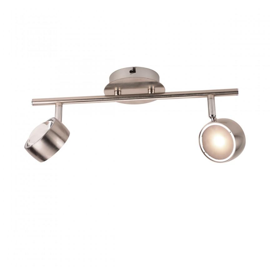 Aplica LED moderna cu spoturi directionabile Barra 2l 56290-2 GL, Aplice de perete LED, Corpuri de iluminat, lustre, aplice, veioze, lampadare, plafoniere. Mobilier si decoratiuni, oglinzi, scaune, fotolii. Oferte speciale iluminat interior si exterior. Livram in toata tara.  a