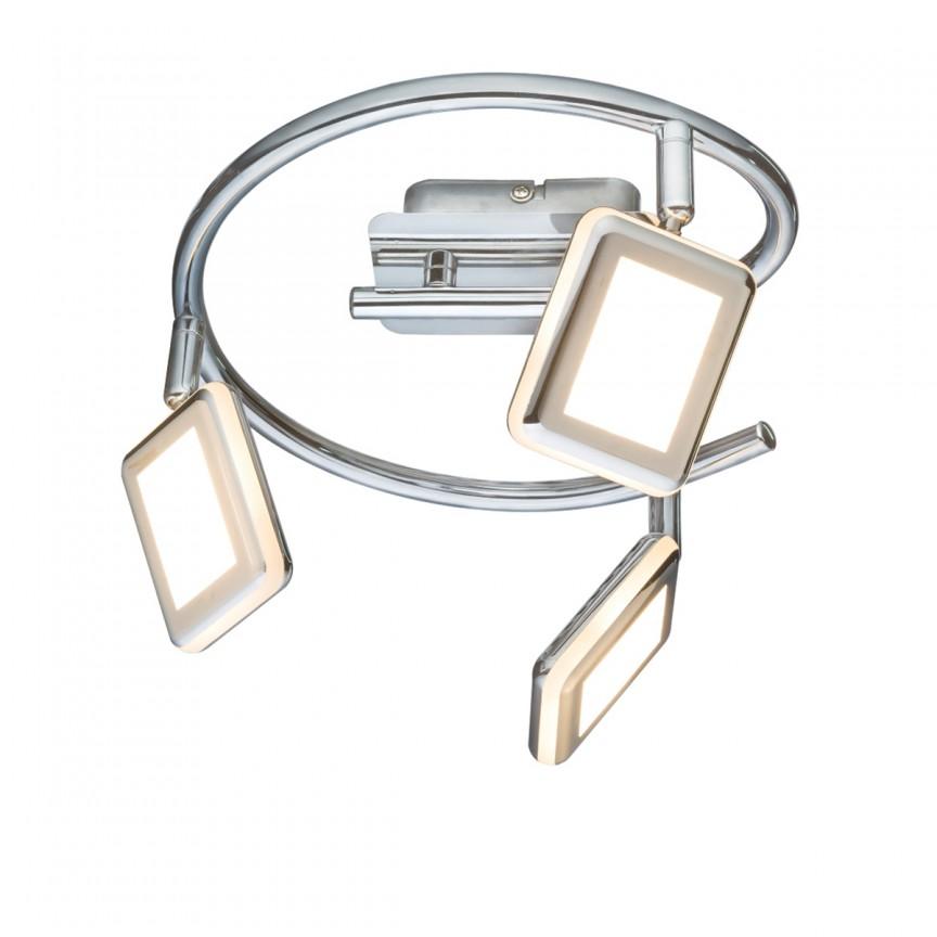 Plafoniera LED cu spoturi directionabile TRYSTAN 3L 56223-3 GL, Spoturi - iluminat - cu 3 spoturi, Corpuri de iluminat, lustre, aplice, veioze, lampadare, plafoniere. Mobilier si decoratiuni, oglinzi, scaune, fotolii. Oferte speciale iluminat interior si exterior. Livram in toata tara.  a