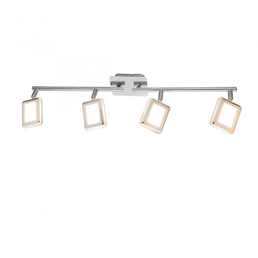 Lustra LED cu spoturi directionabile TRYSTAN 4L 56223-4 GL, Spoturi - iluminat - cu 4 spoturi, Corpuri de iluminat, lustre, aplice, veioze, lampadare, plafoniere. Mobilier si decoratiuni, oglinzi, scaune, fotolii. Oferte speciale iluminat interior si exterior. Livram in toata tara.  a