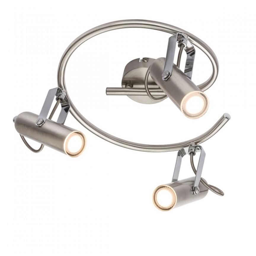 Plafoniera LED moderna cu spoturi directionabile MIRRI 3L 56950-3 GL, Spoturi - iluminat - cu 3 spoturi, Corpuri de iluminat, lustre, aplice, veioze, lampadare, plafoniere. Mobilier si decoratiuni, oglinzi, scaune, fotolii. Oferte speciale iluminat interior si exterior. Livram in toata tara.  a