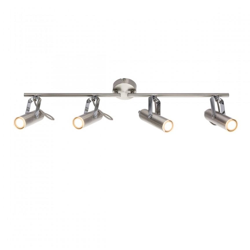 Plafoniera LED moderna cu spoturi directionabile MIRRI 4L 56950-4 GL, Spoturi - iluminat - cu 4 spoturi, Corpuri de iluminat, lustre, aplice, veioze, lampadare, plafoniere. Mobilier si decoratiuni, oglinzi, scaune, fotolii. Oferte speciale iluminat interior si exterior. Livram in toata tara.  a