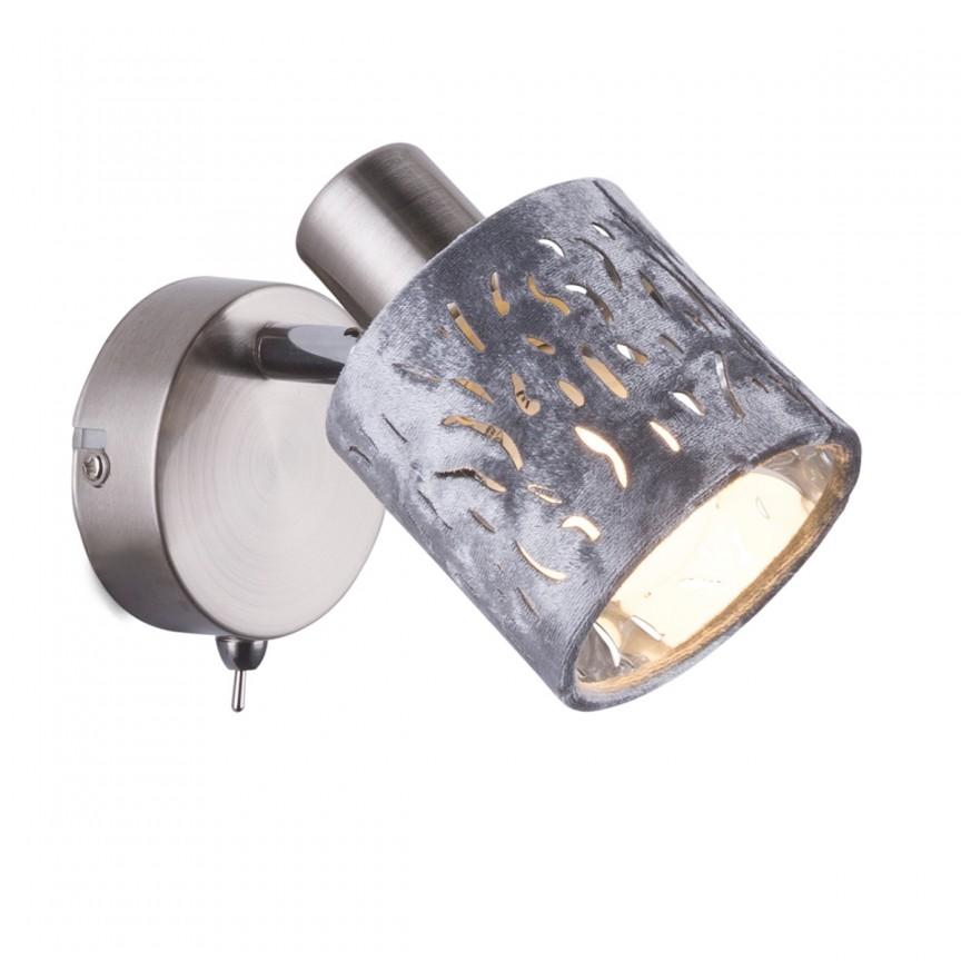 Aplica perete catifea design elegant ALYS 54122-1GL, Aplice de perete LED, Corpuri de iluminat, lustre, aplice, veioze, lampadare, plafoniere. Mobilier si decoratiuni, oglinzi, scaune, fotolii. Oferte speciale iluminat interior si exterior. Livram in toata tara.  a
