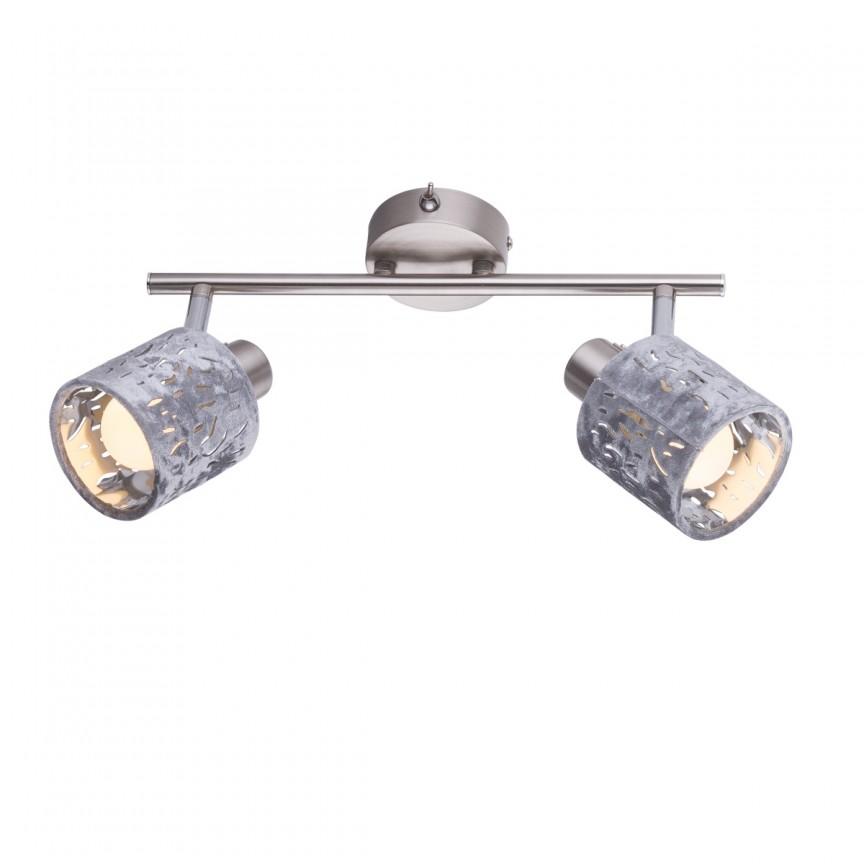 Aplica perete catifea design elegant ALYS 2L 54122-2 GL, Spoturi - iluminat - cu 2 spoturi, Corpuri de iluminat, lustre, aplice, veioze, lampadare, plafoniere. Mobilier si decoratiuni, oglinzi, scaune, fotolii. Oferte speciale iluminat interior si exterior. Livram in toata tara.  a