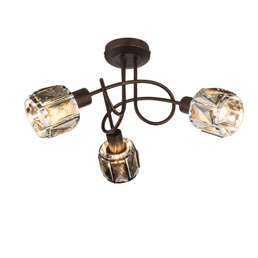 Lustra aplicata stil modern INDIANA 3L 54357-3 GL, Spoturi - iluminat - cu 3 spoturi, Corpuri de iluminat, lustre, aplice, veioze, lampadare, plafoniere. Mobilier si decoratiuni, oglinzi, scaune, fotolii. Oferte speciale iluminat interior si exterior. Livram in toata tara.  a