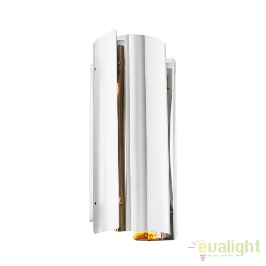 Aplica design LUX Verge nickel 112360 HZ, Aplice de perete moderne, Corpuri de iluminat, lustre, aplice, veioze, lampadare, plafoniere. Mobilier si decoratiuni, oglinzi, scaune, fotolii. Oferte speciale iluminat interior si exterior. Livram in toata tara.  a