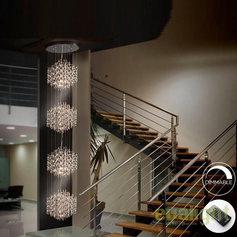 Lustra LED casa scarii cu telecomanda design super-modern ESPIRAL Ø68cm / H 4,5metri SV-579763D, ILUMINAT INTERIOR LED , Corpuri de iluminat, lustre, aplice, veioze, lampadare, plafoniere. Mobilier si decoratiuni, oglinzi, scaune, fotolii. Oferte speciale iluminat interior si exterior. Livram in toata tara.  a
