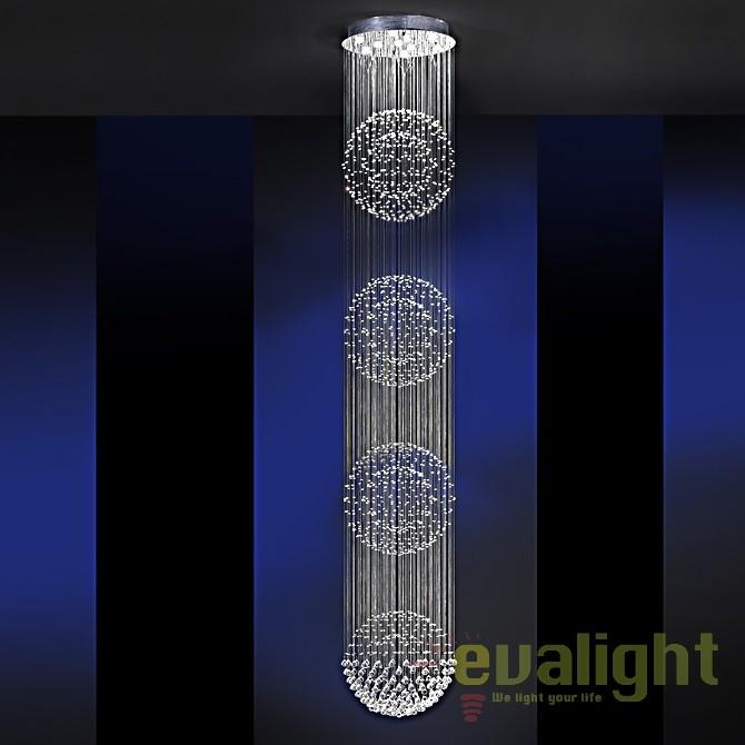 Lustra LED casa scarii design super-modern Estratos Ø60cm / H 4 metri SV-690197, Lustre casa scarii, Corpuri de iluminat, lustre, aplice, veioze, lampadare, plafoniere. Mobilier si decoratiuni, oglinzi, scaune, fotolii. Oferte speciale iluminat interior si exterior. Livram in toata tara.  a