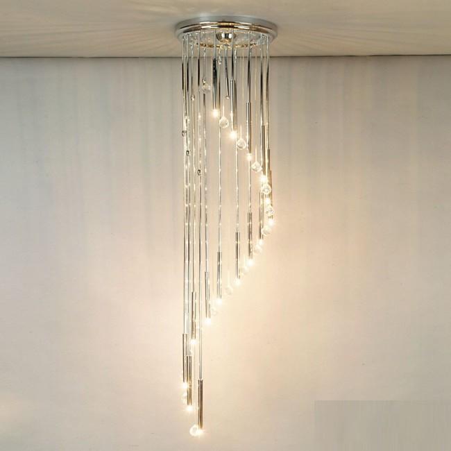 Lustra casa scarii cu 16 surse de lumina si cristal Swarovski Spectra,Spiral, Lustre casa scarii, Corpuri de iluminat, lustre, aplice, veioze, lampadare, plafoniere. Mobilier si decoratiuni, oglinzi, scaune, fotolii. Oferte speciale iluminat interior si exterior. Livram in toata tara.  a