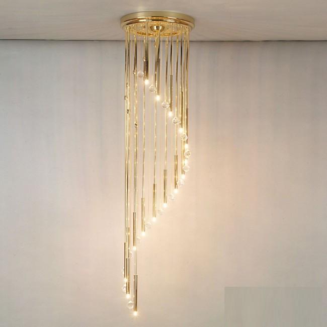 Lustra casa scarii cu 16 surse de lumina si cristal Swarovski Spectra,Spiral 165cm, Lustre casa scarii, Corpuri de iluminat, lustre, aplice, veioze, lampadare, plafoniere. Mobilier si decoratiuni, oglinzi, scaune, fotolii. Oferte speciale iluminat interior si exterior. Livram in toata tara.  a