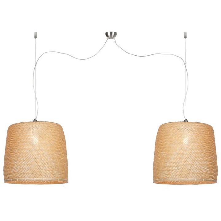 Lustra realizata manual din bambus, material natural, durabil si ecologic SERENGETI duble SERENGETI/H2/N , Candelabre, Pendule, Lustre, Corpuri de iluminat, lustre, aplice, veioze, lampadare, plafoniere. Mobilier si decoratiuni, oglinzi, scaune, fotolii. Oferte speciale iluminat interior si exterior. Livram in toata tara.  a