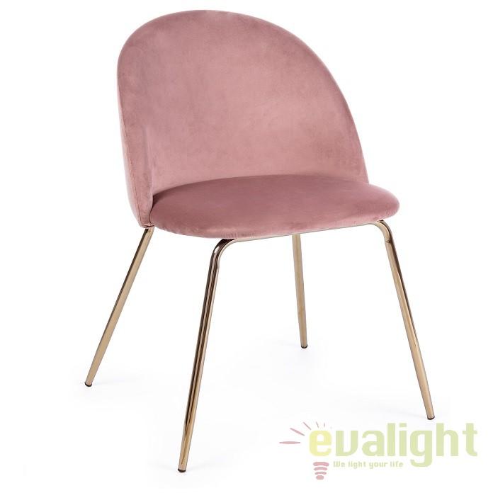 Set de 4 scaune design elegant TANYA roz 0733300 BZ, PROMOTII, Corpuri de iluminat, lustre, aplice, veioze, lampadare, plafoniere. Mobilier si decoratiuni, oglinzi, scaune, fotolii. Oferte speciale iluminat interior si exterior. Livram in toata tara.  a