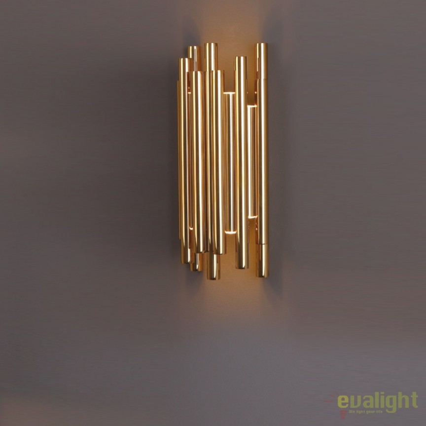 Aplica perete LED design Premium Class Quality ORGANIC GOLD W0187 MX, ILUMINAT INTERIOR LED , Corpuri de iluminat, lustre, aplice, veioze, lampadare, plafoniere. Mobilier si decoratiuni, oglinzi, scaune, fotolii. Oferte speciale iluminat interior si exterior. Livram in toata tara.  a