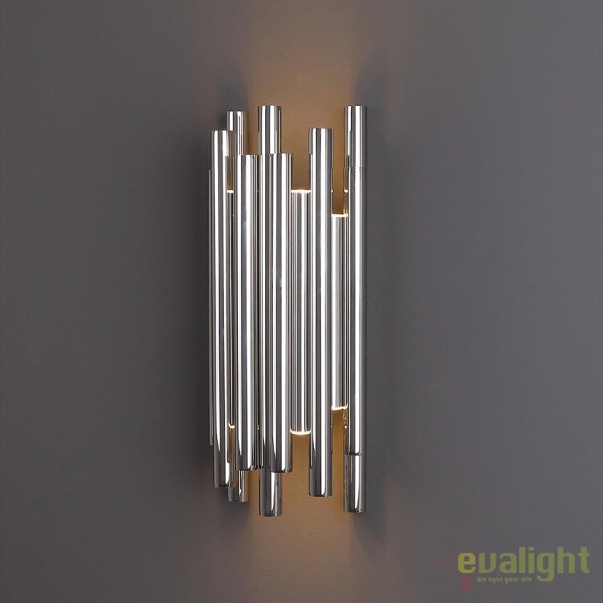 Aplica perete LED design Premium Class Quality ORGANIC CROM W0186 MX MX, ILUMINAT INTERIOR LED , Corpuri de iluminat, lustre, aplice, veioze, lampadare, plafoniere. Mobilier si decoratiuni, oglinzi, scaune, fotolii. Oferte speciale iluminat interior si exterior. Livram in toata tara.  a