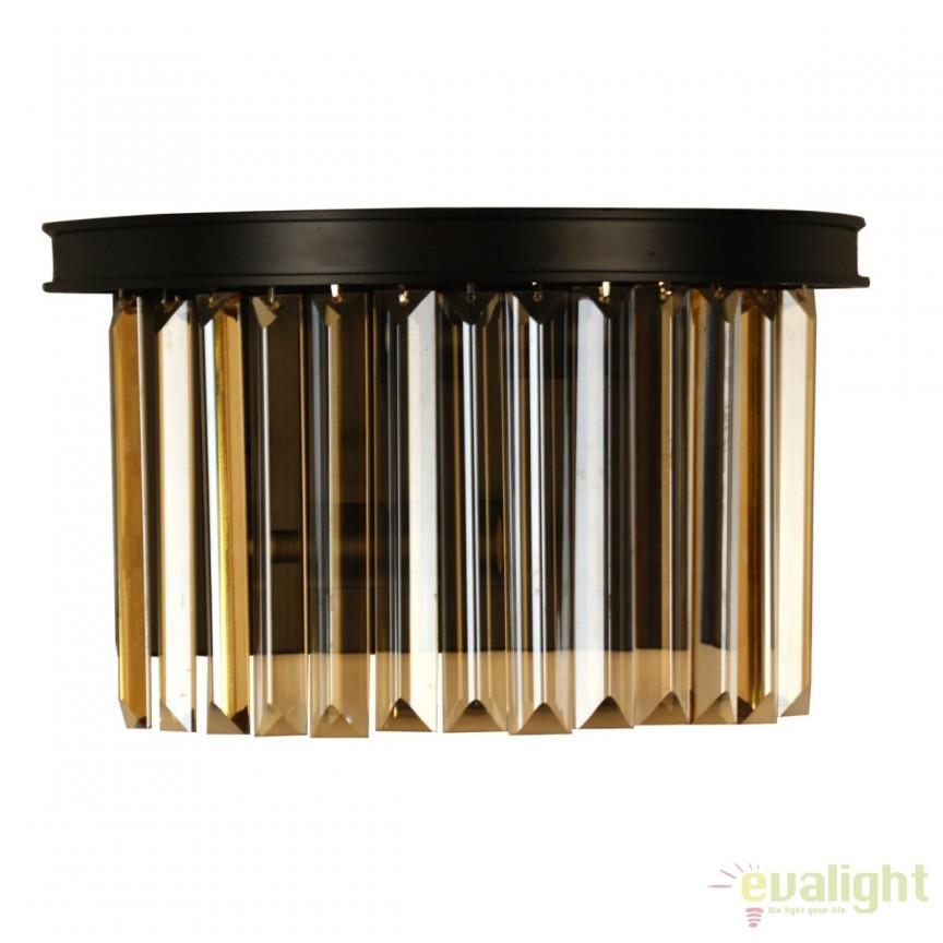 Aplica design Loft, negru/ champagne 498025402 MW, Corpuri de iluminat, lustre, aplice, veioze, lampadare, plafoniere. Mobilier si decoratiuni, oglinzi, scaune, fotolii. Oferte speciale iluminat interior si exterior. Livram in toata tara.
