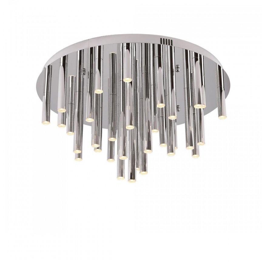 Plafoniera LED design Premium Class Quality ORGANIC crom C0115 MX, ILUMINAT INTERIOR LED , Corpuri de iluminat, lustre, aplice, veioze, lampadare, plafoniere. Mobilier si decoratiuni, oglinzi, scaune, fotolii. Oferte speciale iluminat interior si exterior. Livram in toata tara.  a