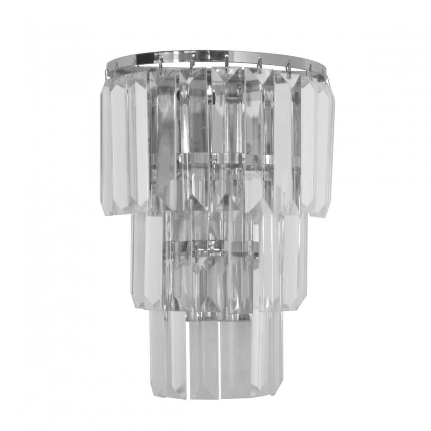 Aplica moderna design elegant Donella crom 642022601 MW, Aplice de perete moderne, Corpuri de iluminat, lustre, aplice, veioze, lampadare, plafoniere. Mobilier si decoratiuni, oglinzi, scaune, fotolii. Oferte speciale iluminat interior si exterior. Livram in toata tara.  a