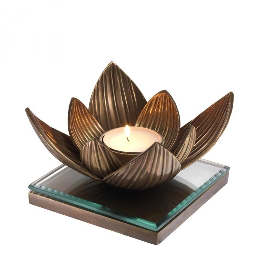 Suport pentru lumanare design LUX Lotus 112660 HZ, Parfumuri de camera- Idei cadouri- Obiecte decorative, Corpuri de iluminat, lustre, aplice, veioze, lampadare, plafoniere. Mobilier si decoratiuni, oglinzi, scaune, fotolii. Oferte speciale iluminat interior si exterior. Livram in toata tara.  a