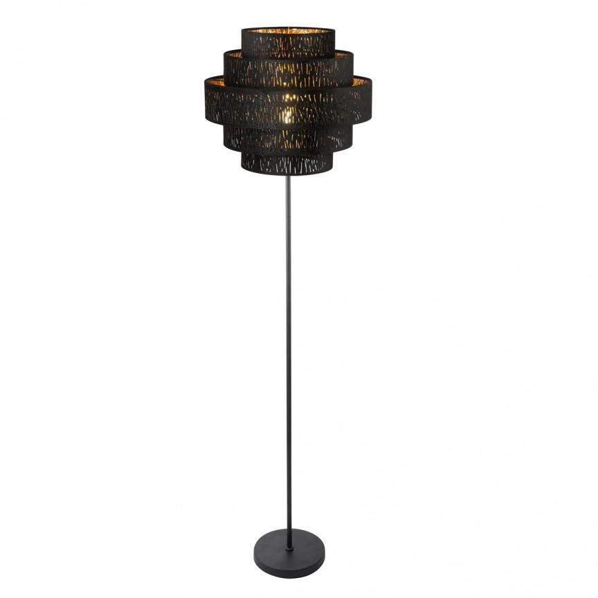 Lampadar modern catifea design elegant Tuxon H-164cm 15264S2 GL, PROMOTII, Corpuri de iluminat, lustre, aplice, veioze, lampadare, plafoniere. Mobilier si decoratiuni, oglinzi, scaune, fotolii. Oferte speciale iluminat interior si exterior. Livram in toata tara.  a