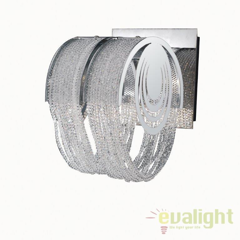 Aplica din metal design modern I-LYRICA/AP1 FE, Aplice de perete moderne, Corpuri de iluminat, lustre, aplice, veioze, lampadare, plafoniere. Mobilier si decoratiuni, oglinzi, scaune, fotolii. Oferte speciale iluminat interior si exterior. Livram in toata tara.  a