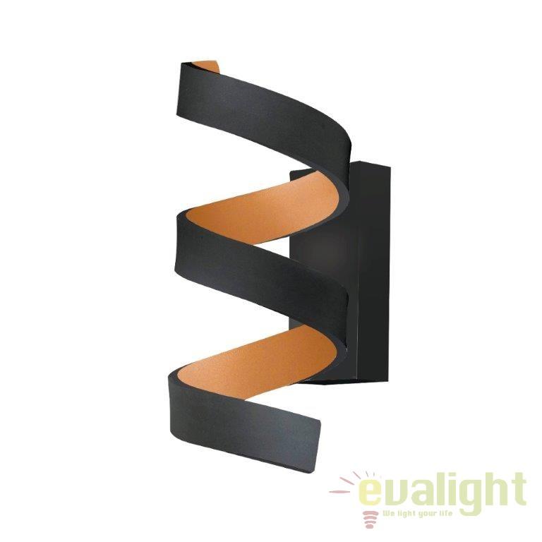 Aplica design modern HELIX negru/ auriu LED-HELIX-AP3 NER FE, PROMOTII, Corpuri de iluminat, lustre, aplice, veioze, lampadare, plafoniere. Mobilier si decoratiuni, oglinzi, scaune, fotolii. Oferte speciale iluminat interior si exterior. Livram in toata tara.  a
