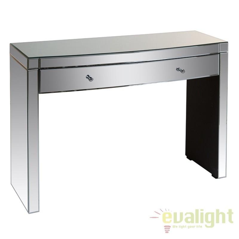 Consola eleganta placata cu oglinda Alicce 52772 SAP, Console - Birouri, Corpuri de iluminat, lustre, aplice, veioze, lampadare, plafoniere. Mobilier si decoratiuni, oglinzi, scaune, fotolii. Oferte speciale iluminat interior si exterior. Livram in toata tara.  a