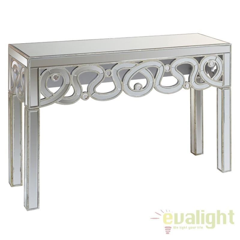 Consola eleganta placata cu oglinda Alicce 52773 SAP, Console - Birouri, Corpuri de iluminat, lustre, aplice, veioze, lampadare, plafoniere. Mobilier si decoratiuni, oglinzi, scaune, fotolii. Oferte speciale iluminat interior si exterior. Livram in toata tara.  a