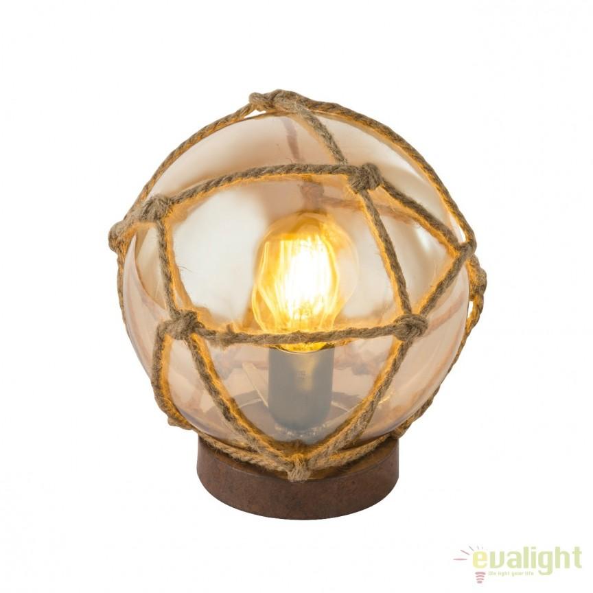 Veioza / Lampa de masa design rustic TIKO 15859T GL, Veioze, Corpuri de iluminat, lustre, aplice, veioze, lampadare, plafoniere. Mobilier si decoratiuni, oglinzi, scaune, fotolii. Oferte speciale iluminat interior si exterior. Livram in toata tara.  a