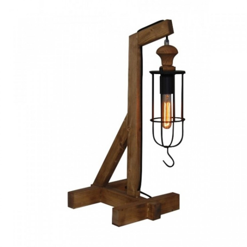 Lampa de masa design rustic-industrial HL-303TL MIDAS 77-3129 HL, Veioze, Corpuri de iluminat, lustre, aplice, veioze, lampadare, plafoniere. Mobilier si decoratiuni, oglinzi, scaune, fotolii. Oferte speciale iluminat interior si exterior. Livram in toata tara.  a