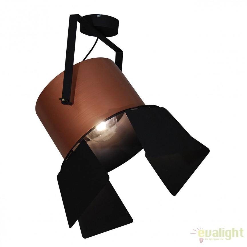 Lustra design vintage HL-3600-1XXXL-C ARLEN COPPER & BLACK 77-4297 HL, PROMOTII, Corpuri de iluminat, lustre, aplice, veioze, lampadare, plafoniere. Mobilier si decoratiuni, oglinzi, scaune, fotolii. Oferte speciale iluminat interior si exterior. Livram in toata tara.  a