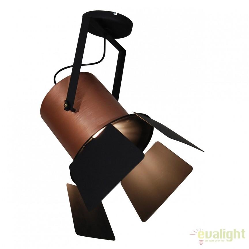 Lustra design vintage HL-3600-1XL-C ARLEN COPPER & BLACK 77-4289 HL, Lustre aplicate / Plafoniere moderne, tavan⭐ modele de lux pentru dormitor, living, bucatarie, hol.✅DeSiGn LED decorativ 2021!❤️Promotii lampi❗ ➽ www.evalight.ro. Alege oferte la corpuri de iluminat interior stil modern pentru camere cu tavane joase, (rotunde si patrate) din metal cu cu abajur sticla, decor cu cristale, material textil, lemn, becuri LED, ieftine si de lux, calitate deosebita la cel mai bun pret. a