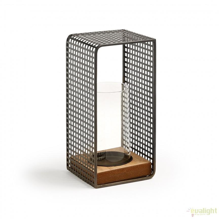 Decoratiune, Suport metalic pentru lumanare VALLEY AA1660R15 JG, Parfumuri de camera- Idei cadouri- Obiecte decorative, Corpuri de iluminat, lustre, aplice, veioze, lampadare, plafoniere. Mobilier si decoratiuni, oglinzi, scaune, fotolii. Oferte speciale iluminat interior si exterior. Livram in toata tara.  a