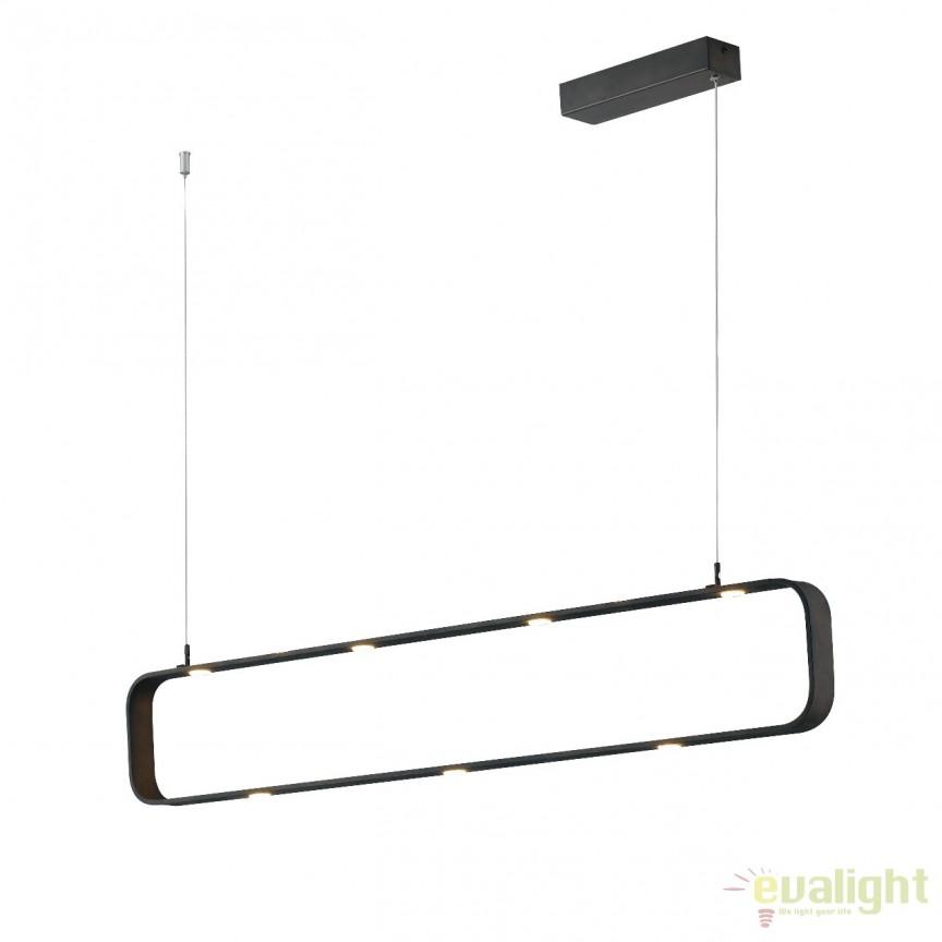 Lustra LED suspendata design modern Moka LED-MOKA-S9 FE, Lustre LED, Pendule LED, Corpuri de iluminat, lustre, aplice, veioze, lampadare, plafoniere. Mobilier si decoratiuni, oglinzi, scaune, fotolii. Oferte speciale iluminat interior si exterior. Livram in toata tara.  a