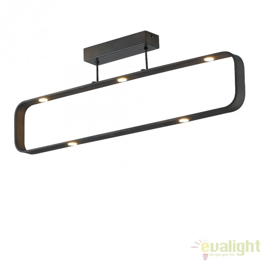 Lustra LED aplicata design modern Moka LED-MOKA-PL7 FE, Lustre LED, Pendule LED, Corpuri de iluminat, lustre, aplice, veioze, lampadare, plafoniere. Mobilier si decoratiuni, oglinzi, scaune, fotolii. Oferte speciale iluminat interior si exterior. Livram in toata tara.  a