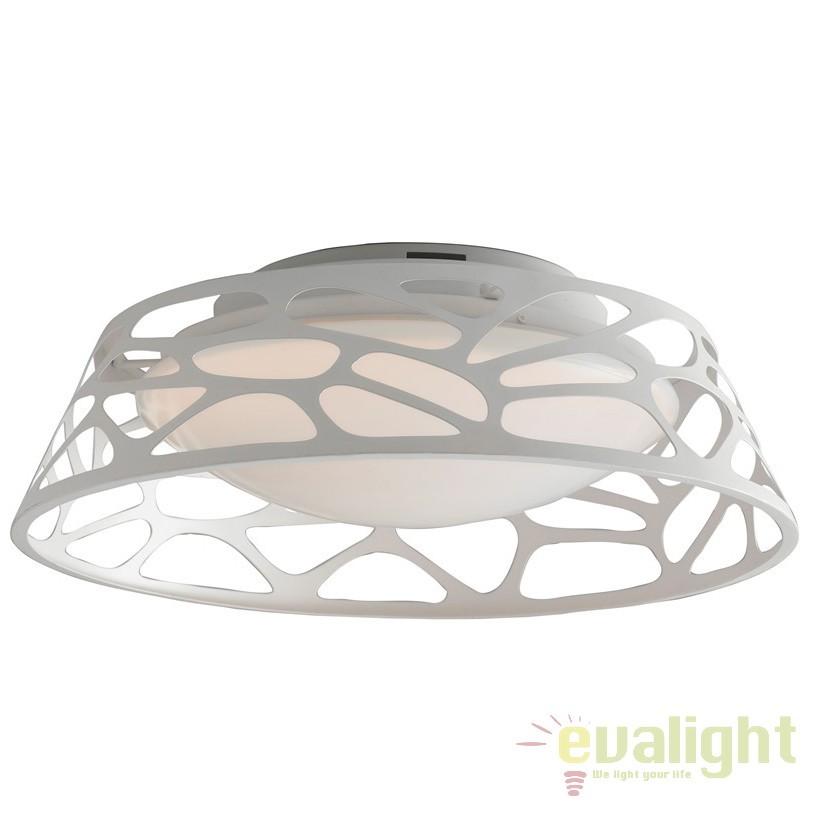 Lustra LED aplicata design modern Maui, 47cm LED-MAUI-PL47 BCO FE, Lustre LED, Pendule LED, Corpuri de iluminat, lustre, aplice, veioze, lampadare, plafoniere. Mobilier si decoratiuni, oglinzi, scaune, fotolii. Oferte speciale iluminat interior si exterior. Livram in toata tara.  a