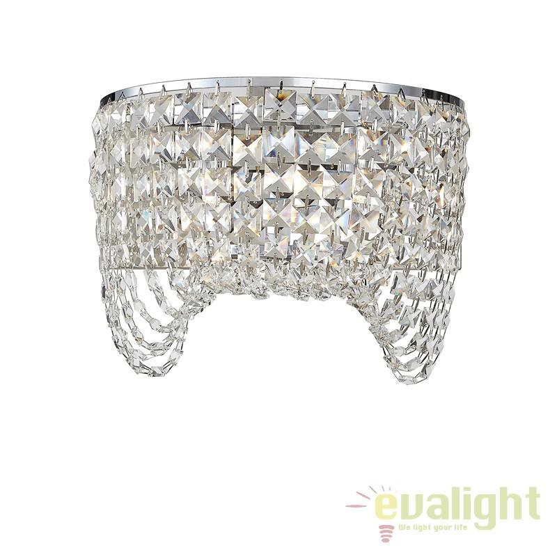 Aplica perete moderna design elegant CARMEN, Promotii si Reduceri⭐ Oferte ✅Corpuri de iluminat ✅Lustre ✅Mobila ✅Decoratiuni de interior si exterior.⭕Pret redus online➜Lichidari de stoc❗ Magazin ➽ www.evalight.ro. a