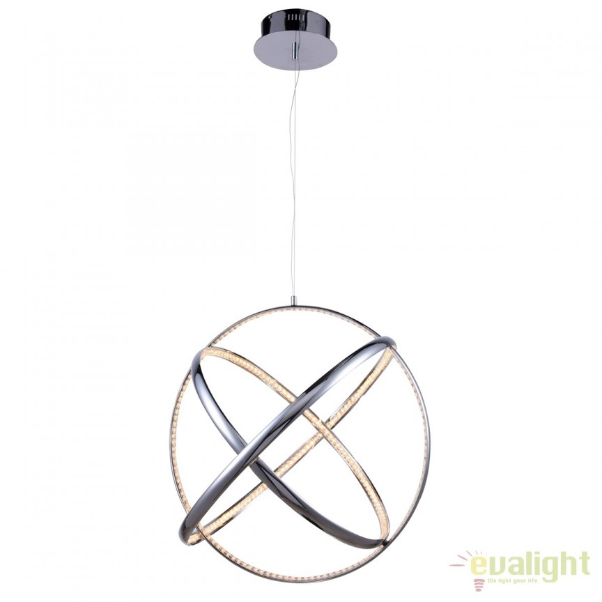 Lustra LED design modern Ø70cm GLOBUS, Lustre LED, Pendule LED, Corpuri de iluminat, lustre, aplice, veioze, lampadare, plafoniere. Mobilier si decoratiuni, oglinzi, scaune, fotolii. Oferte speciale iluminat interior si exterior. Livram in toata tara.  a