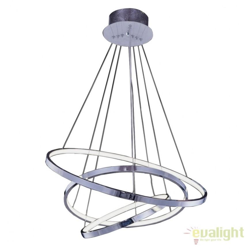 Lustra LED design modern Wheel 3 Big , Lustre LED, Pendule LED, Corpuri de iluminat, lustre, aplice, veioze, lampadare, plafoniere. Mobilier si decoratiuni, oglinzi, scaune, fotolii. Oferte speciale iluminat interior si exterior. Livram in toata tara.  a