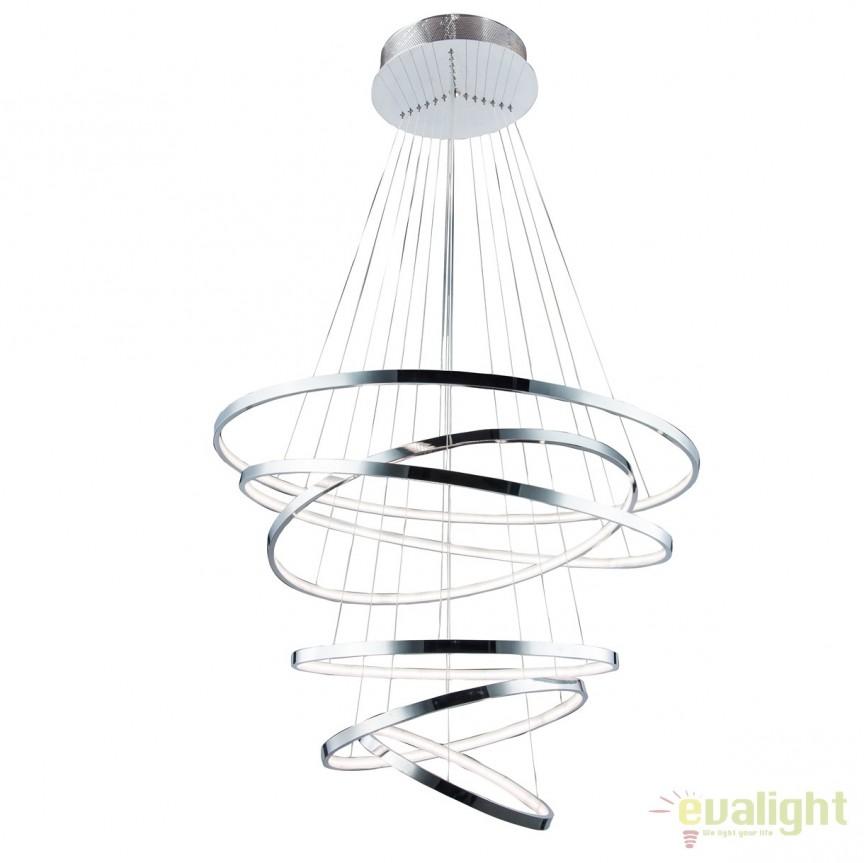 Lustra LED design modern casa scarii Wheel 6, Lustre LED, Pendule LED, Corpuri de iluminat, lustre, aplice, veioze, lampadare, plafoniere. Mobilier si decoratiuni, oglinzi, scaune, fotolii. Oferte speciale iluminat interior si exterior. Livram in toata tara.  a