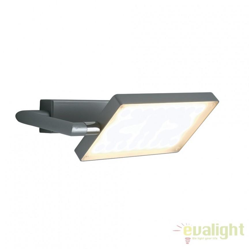 Aplica LED directionabila, design modern Led book, gri LED-BOOK-AP-GR FE, Aplice de perete simple, Corpuri de iluminat, lustre, aplice, veioze, lampadare, plafoniere. Mobilier si decoratiuni, oglinzi, scaune, fotolii. Oferte speciale iluminat interior si exterior. Livram in toata tara.  a