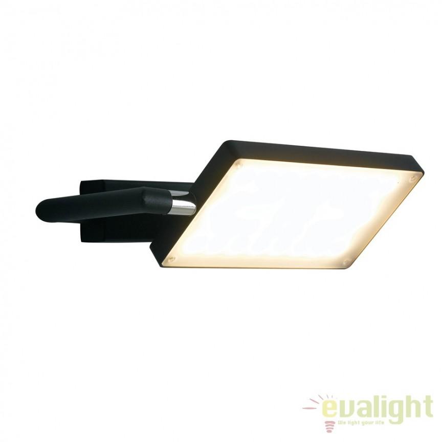 Aplica LED directionabila, design modern Led book, negru LED-BOOK-AP-NERO FE, Aplice de perete simple, Corpuri de iluminat, lustre, aplice, veioze, lampadare, plafoniere. Mobilier si decoratiuni, oglinzi, scaune, fotolii. Oferte speciale iluminat interior si exterior. Livram in toata tara.  a