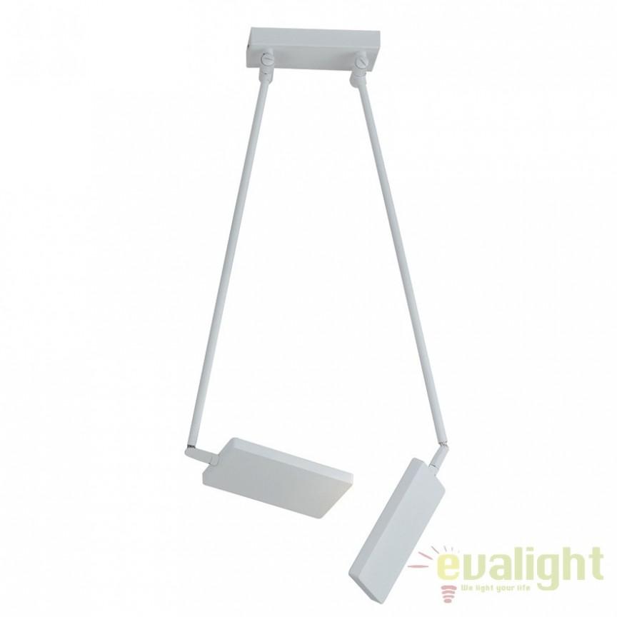 Lustra LED directionabila, design modern Led book, alb LED-BOOK-PL-BCO FE, Spoturi - iluminat - cu 2 spoturi, Corpuri de iluminat, lustre, aplice, veioze, lampadare, plafoniere. Mobilier si decoratiuni, oglinzi, scaune, fotolii. Oferte speciale iluminat interior si exterior. Livram in toata tara.  a