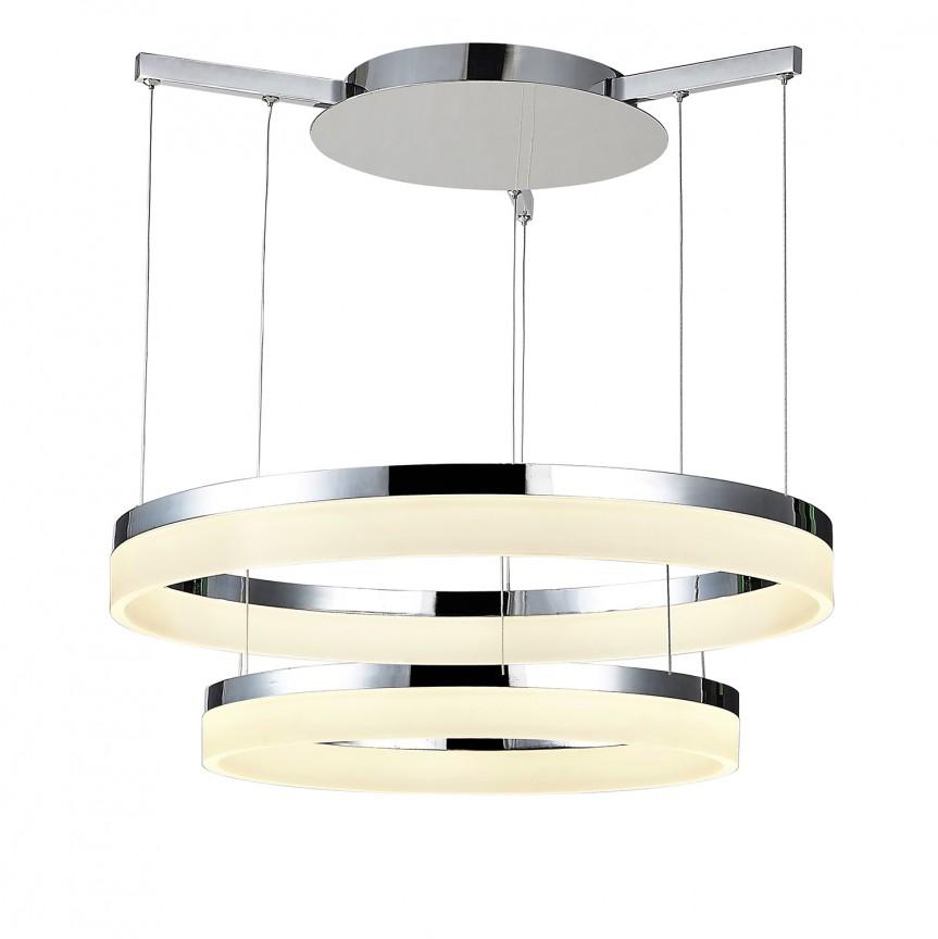 Lustra LED design modern Ø80cm Zola CHROME, Lustre LED, Pendule LED, Corpuri de iluminat, lustre, aplice, veioze, lampadare, plafoniere. Mobilier si decoratiuni, oglinzi, scaune, fotolii. Oferte speciale iluminat interior si exterior. Livram in toata tara.  a