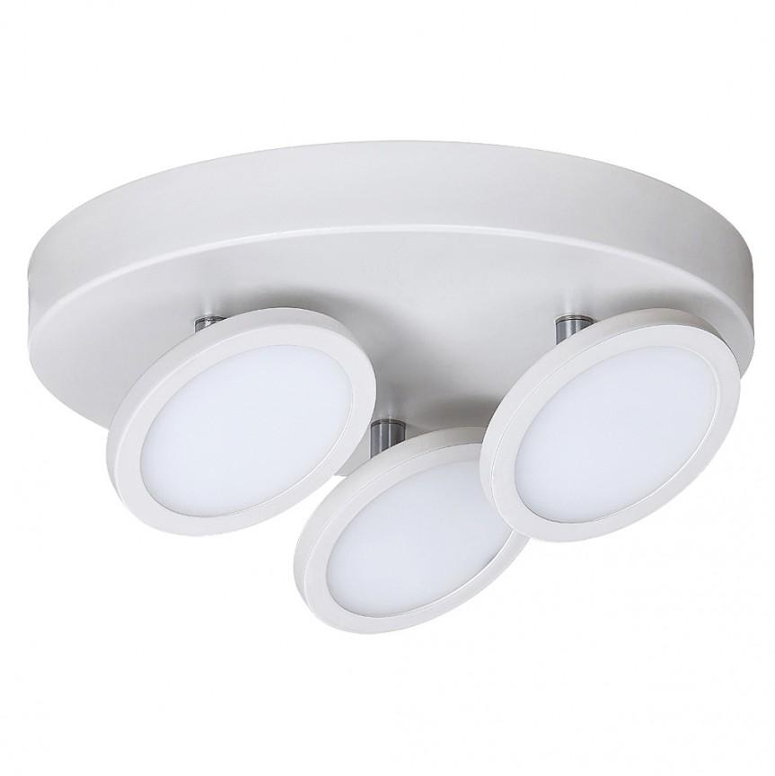 Plafoniera design minimalist cu 3 spoturi LED Elsa 2714 RX, Spoturi - iluminat - cu 3 spoturi, Corpuri de iluminat, lustre, aplice, veioze, lampadare, plafoniere. Mobilier si decoratiuni, oglinzi, scaune, fotolii. Oferte speciale iluminat interior si exterior. Livram in toata tara.  a