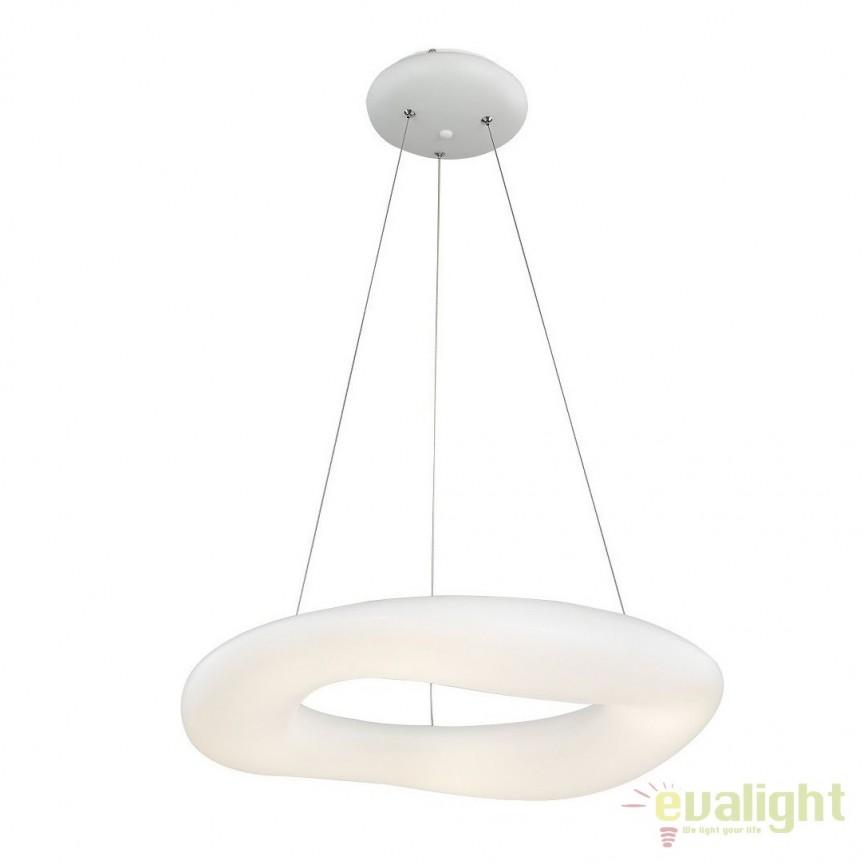 Lustra LED dimabila design modern Ø75cm Donut, Lustre LED, Pendule LED, Corpuri de iluminat, lustre, aplice, veioze, lampadare, plafoniere. Mobilier si decoratiuni, oglinzi, scaune, fotolii. Oferte speciale iluminat interior si exterior. Livram in toata tara.  a