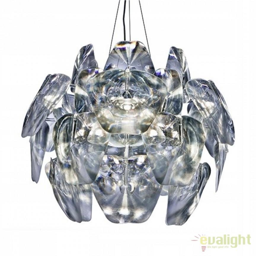 Lustra moderna design elegant Ø63cm 3D, Pendule, Lustre suspendate, Corpuri de iluminat, lustre, aplice, veioze, lampadare, plafoniere. Mobilier si decoratiuni, oglinzi, scaune, fotolii. Oferte speciale iluminat interior si exterior. Livram in toata tara.  a